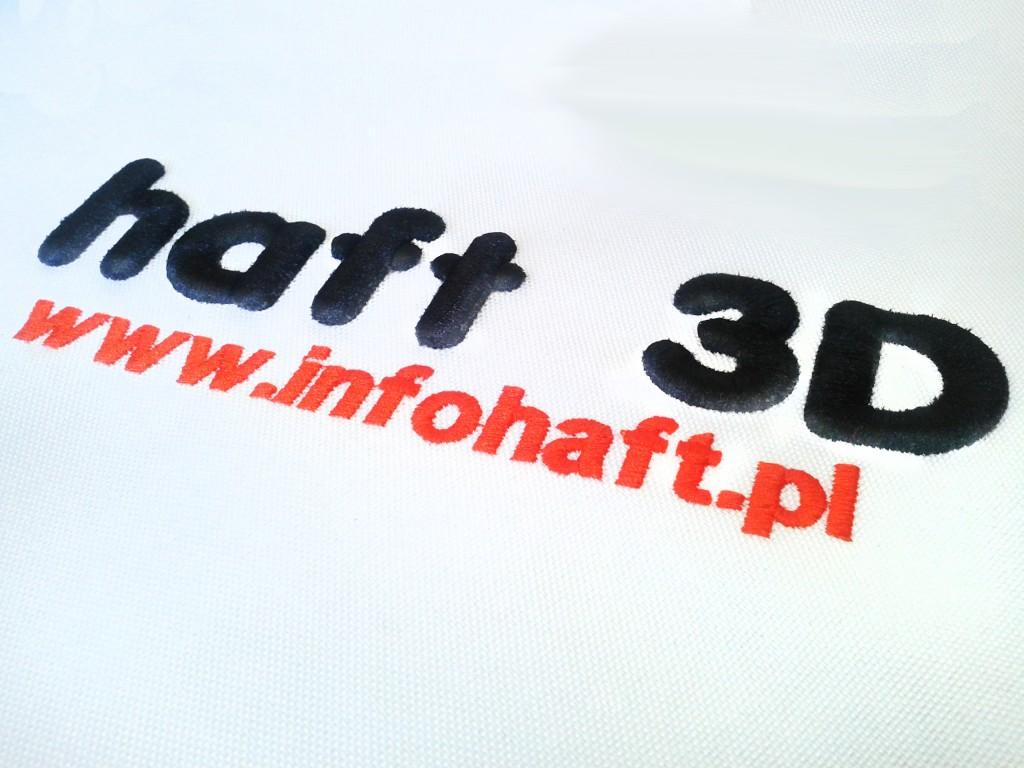 haft 3D haft komputeowy trójwymiarowy